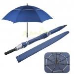 27寸雙層防風超長直柄廣告傘