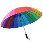 24色彩色直傘